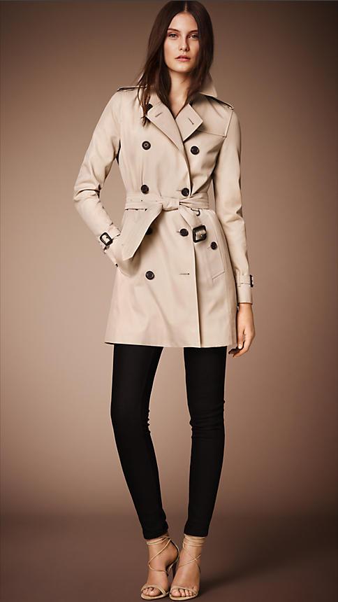 burberry kensington stone trench coat